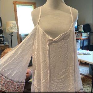 Cold shoulder knee length dress
